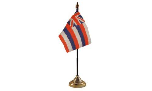 10 x 15 cm National Hand Waving United States Hawaii Table Desk Flag