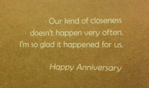 """HUSBAND ANNIVERSARY Card /""""For HIm COMMITTED LOVE Our Anniversary/"""" Hallmark 78J"""