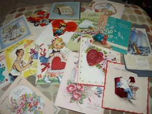 COLLECTION 34 VINTAGE GREETING CARDS,VALENTINES,BIRTHDAY,COCKER SPANIEL