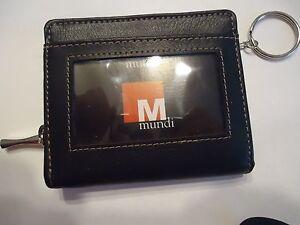 Black Mundi Genuine Leather Mini Wallet
