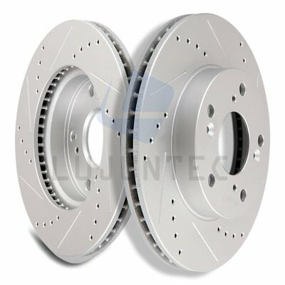 Front Brake Discs Rotors For 2011 2012 2013 2014 Honda Odyssey Vented Drilled