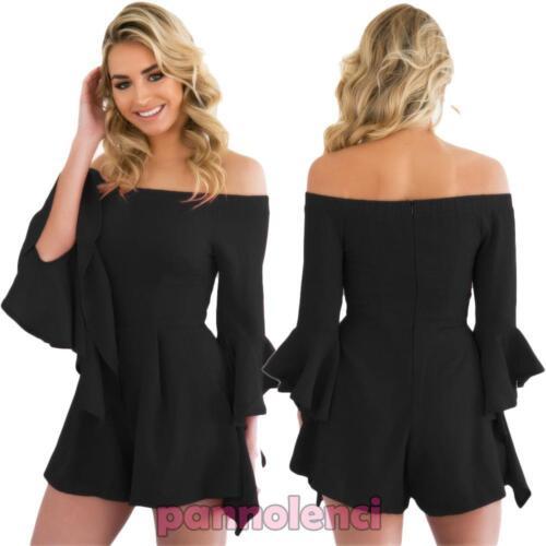 Overall donna tuta intera pantaloncino shorts carmen gitana ruches nuova DL-2012