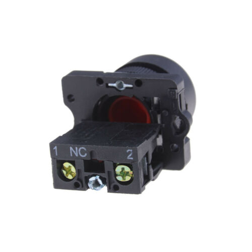 22mm 1 NC N//C Red Sign Momentary Push Button Switch 600V 10A ZB2-EA4 *sg