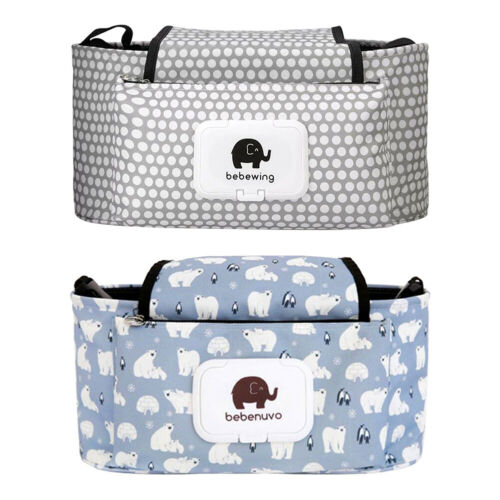 Baby Stroller Diaper Bag Hanging Bundle Pocket Mummy Storage Bag With Zip UK