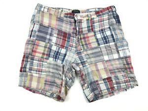 POLO-Ralph-Lauren-Patchwork-Plaid-Preppy-Casual-Chino-Shorts-Multi-Color-Size-38