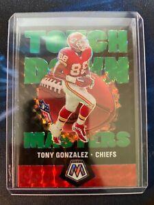 Tony Gonzalez 2020 Mosaic Green Prizm Touchdown Masters Kansas City Chiefs -C26