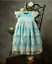 NEW Frilly Frock Boutique Newborn Girls Take Me Home Gown Blue Ivory 0-3M Gift