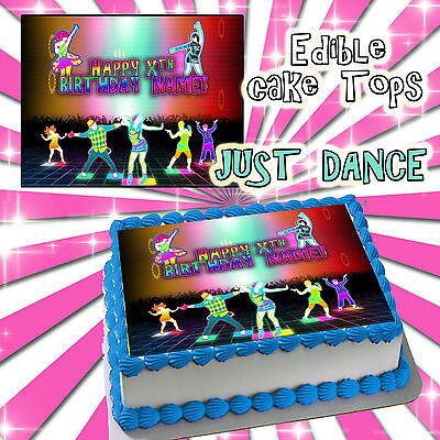Excellent Just Dance Happy Birthday Cake Edible Sugar Topper Sheet Wii Paper Funny Birthday Cards Online Hetedamsfinfo