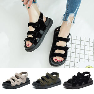 Fashion Womens Platform Creepers Sandals Open Toe Casual Summer Beach Shoes Gift
