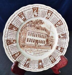 1964 Alfred Meakin Angleterre Porcelaine God Bless Our House Marron 9 ""