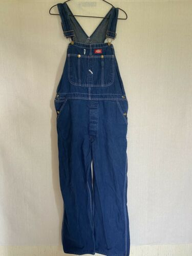 Dickies Denim Overalls Size 38x30 Fit 36x29 - image 1