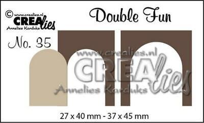 Crealies Decorette Die Set No.22 ONLY FLOWERS Cutting Dies CLDR22 37x61mm