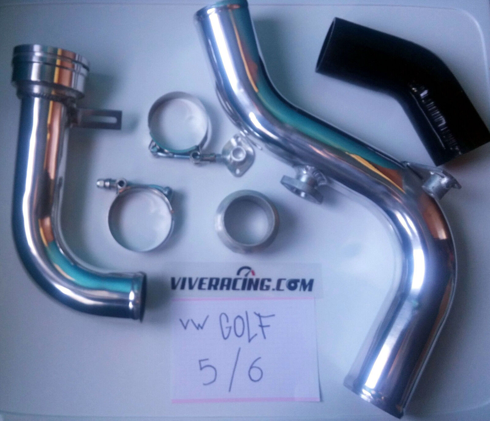 tuberias de turbo PIPING KIT ALUMINUM BOOST PIPE FOR VW GOLF GTI...