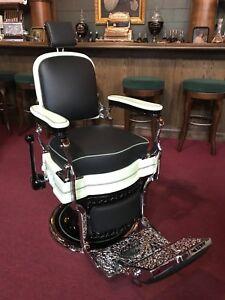 Image Is Loading 1920 039 S Barbershop Chair Koken Fully Restored