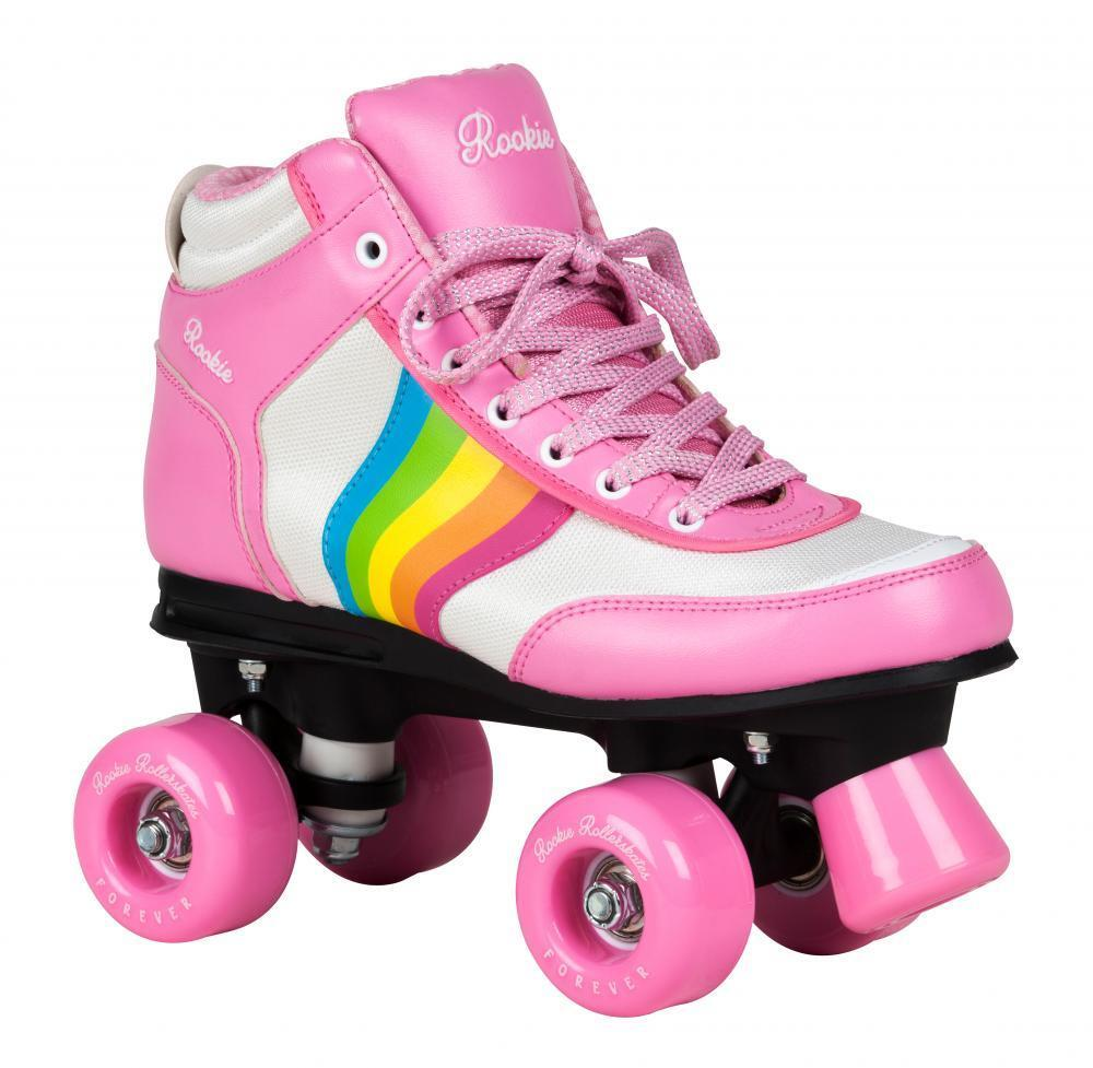 Rookie Forever V2 Kind   Erwachsene Rollschuhe Rollschuhe Rollschuhe   Quad - Rosa Mehrfarbig 2b9a25