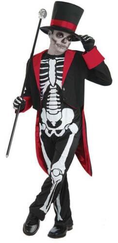 Onorevole ossa jangles Halloween Ragazzi Bambini Costume Scheletro