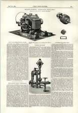 1891 Slow Speed Engine Dynamo Joel Hett Brigg Turbine Governor