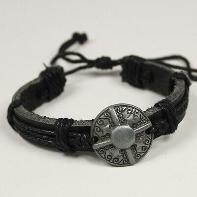 New handmade Hemp Leather bracelet Wristband women/men Cuff bangle LC026