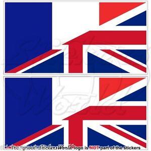 Francia Regno Unito Bandiera Francese Uk Adesivi In Vinile 75mm