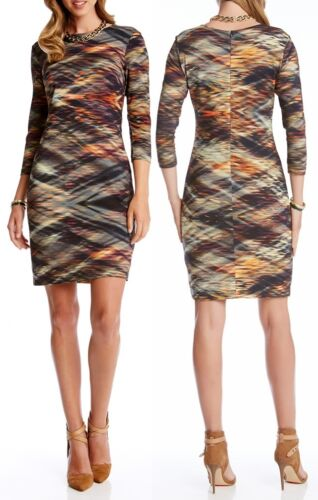$128 Karen Kane 3L67113 Crystal Vision Stretch Jersey Sheath Dress