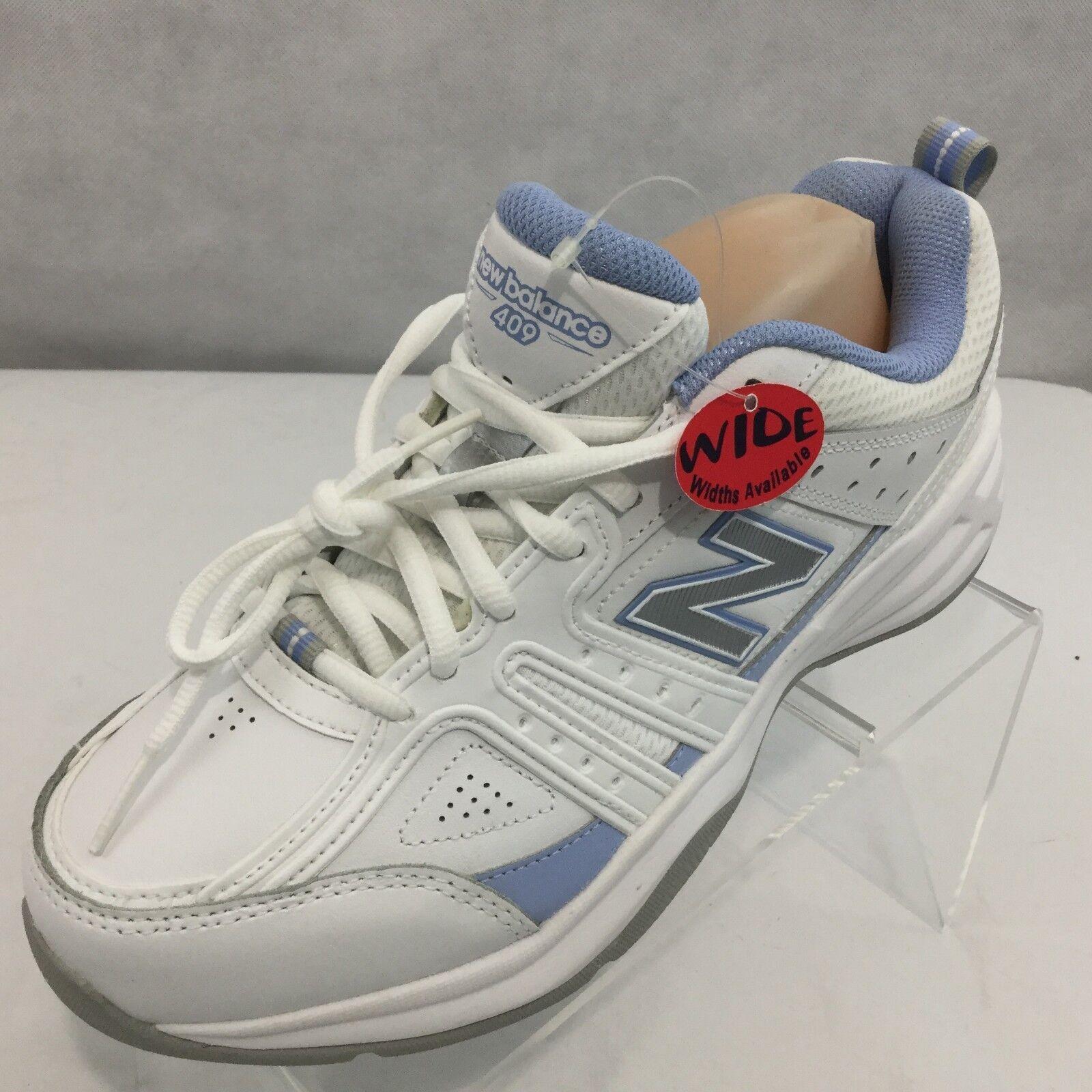 New Balance 409 scarpe da ginnastica ginnastica ginnastica Sz 9 Wild bianca blu Walking Training Lightweight NWT e76d23