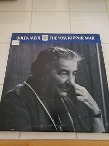 GOLDA MEIR The Yom Kippur War LP NO. 423 | eBay
