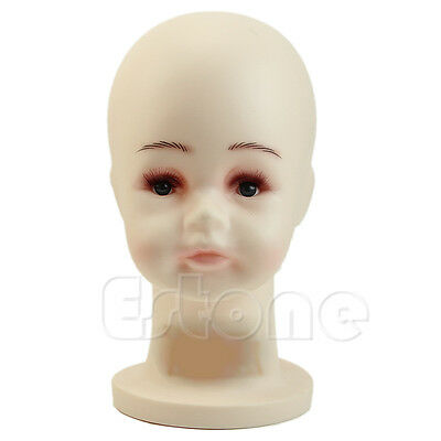 Children Head Mannequins Manikin  For Wig Hats Mould Show Stand Model Display