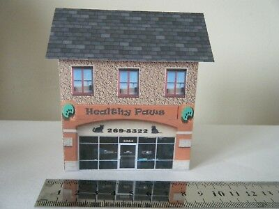 Scratch Built Card Model Railway House 00 Gauge Vets Small