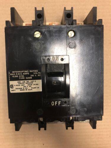 SQUARE D Q2MB 3 pole 150 amp 240v Q2M3150MB Circuit Breaker Q2M-3150-MB