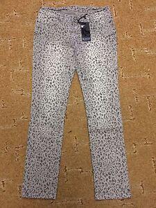 9c935ee92072 Damen Jeans Hose grau Leo Look Leopard Gr. 38 von Laura Scott 98 ...
