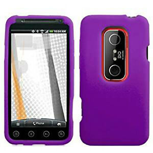 For-Sprint-HTC-EVO-3D-Rubber-Soft-Gel-Silicone-SKIN-Case-Phone-Cover-Dark-Purple
