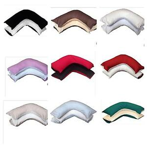 NEW-REVERSIBLE-Twin-Color-V-Shaped-Orthopedic-Maternity-Back-amp-Neck-Pillowcase
