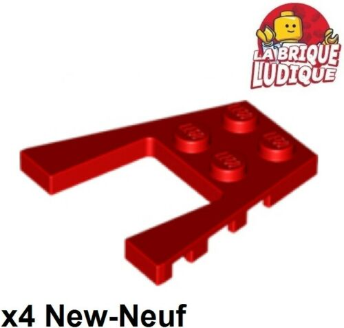Lego 4x Aile Wedge plate 4x4 rouge//red 43719 NEUF