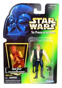 Star Wars The Power of the Force Han Solo with Heavy Assault Rifle 1997 POTF New