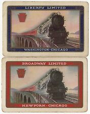 2 x Playing Cards Single Card US Railroad PRR Liberty + Broadway Limited Trains
