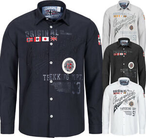 Geographical-Norway-Herren-LANGARM-Hemd-Royal-Club-Freizeithemd-BESTRICKT-ZOLIDA