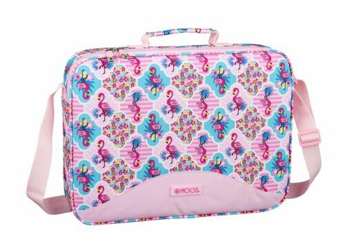 Moos Pink Turquoise Flamingo Deluxe Messenger Shoulder Bag Travel Case Messenger