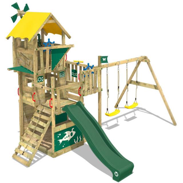 WICKEY Spielturm Klettergerüst Smart Engine Baumhaus Rutsche Schaukel Garten