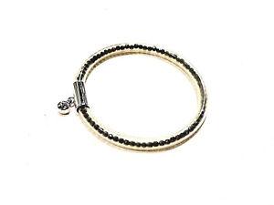 Bijou-alliage-argente-et-lucite-bracelet-Pierre-Lang-breloque-cristal-blanc