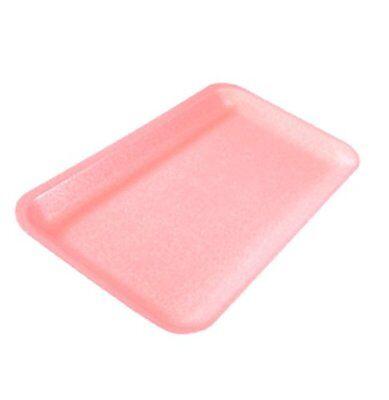 CKF 10SW 100-Piece Bundle #10S White Foam Meat Trays