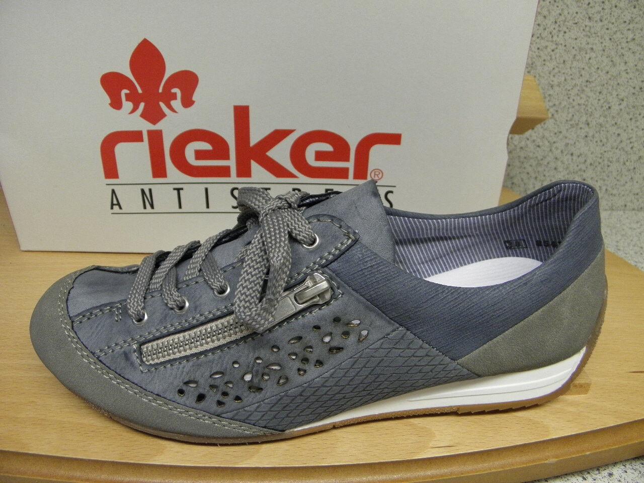 rieker ® SALE,  blau, NEU, Top Preis + gratis Premium - Socken, L9041-42  (R192)