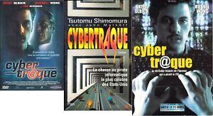 lot cybertraque dvd + livre + dossier de presse (traque du hacker kevin Mitnick)