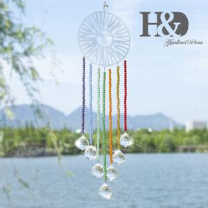 Handmade-Crystal-Rainbow-Suncatcher-Hanging-Chakra-Beads-Glass-Ball-Prism-20mm