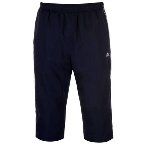 Lonsdale Mens 2 Stripe three quarter Pants Three Quarter Track Trousers Jogging
