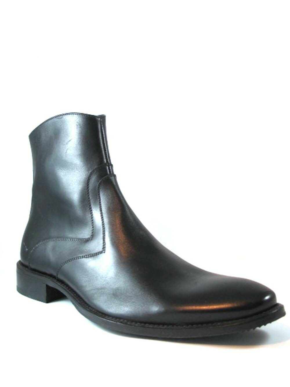 Morandi Men's 4086 Leather Dressy Italian Ankle Boots