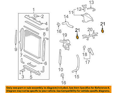 TOYOTA 9676135031 GENUINE OEM OUTLET PIPE O-RING