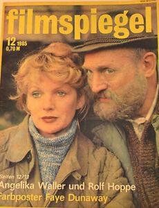 Appris Miroir En Film - 12/1985 - Angelika Waller - Poster Faye Dunaway - Fs15