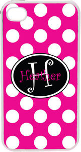 Solid-Fuschia-Polka-Dot-Pattern-iPhone-4-4S-Custom-Curlz-Monogrammed-Case-Cover