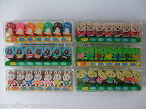 Novelty Japanese Animal Eraser Rubbers - Iwako Kawaii Eraser Sets Party Bag Gift