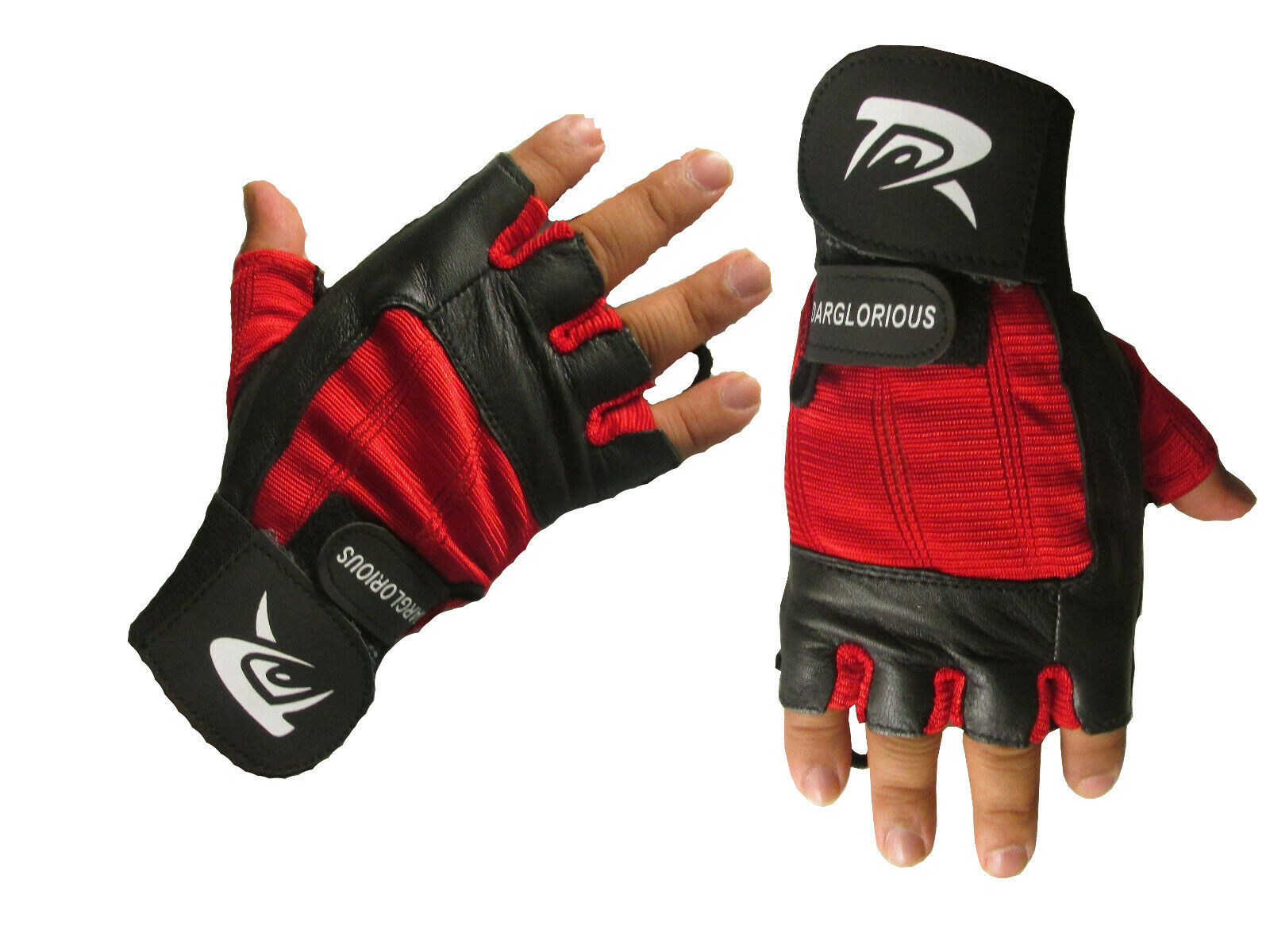 Men Gloves Weight Lifting Gym Training Leather Wrist Padded Wraps Cycling Women